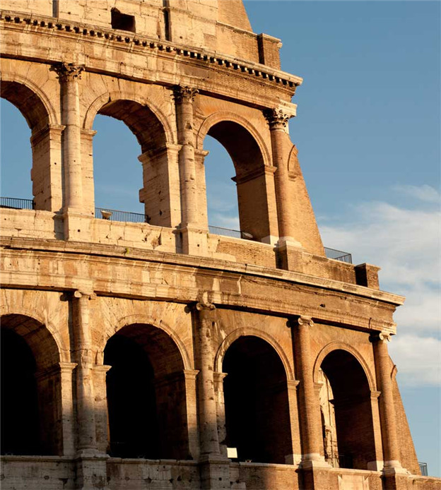 1Detail-of-the-Colosseum,-Rome,-Italy